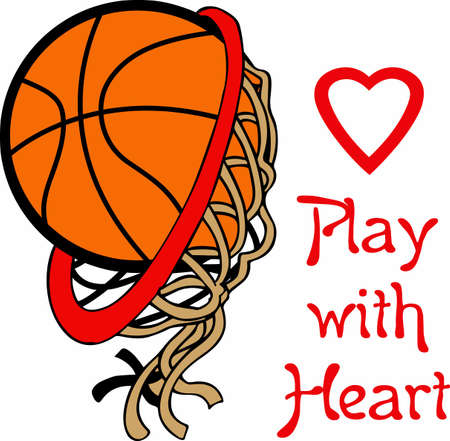 Basketball fans will enjoy this ball on a game shirt. Ilustrace