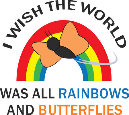 Rainbows are a wonderful way to accent your projects. Ilustracja