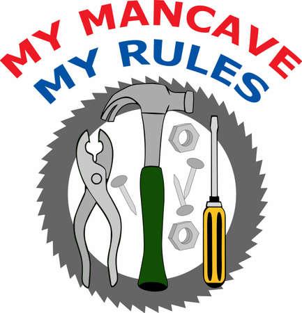 Perfekten Satz von Handymans Werkzeuge für alle Ihre Reparatur und fixit Arbeit. Standard-Bild - 45448954