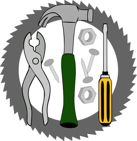 knocker: Perfect set of Handymans Tools for all your repair and fixit work.