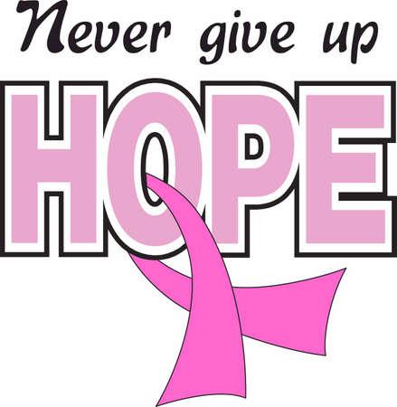 gu�rir: Montrez votre soutien pour un rem�de contre le cancer. Illustration