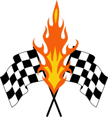 nascar: Race fans will love great checkered flags. Illustration