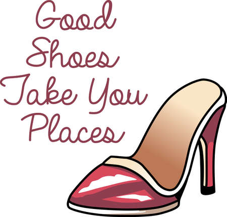 Show off your love of fashion with a great high heel shoe. Ilustração