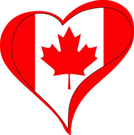 canadian flag: Show Canadian pride with a maple leaf flag heart.