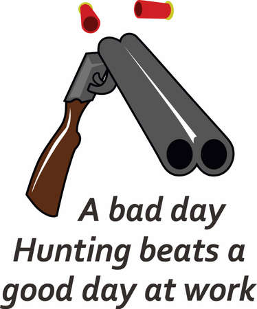 Hunters and shooters appreciate a fine weapon. Ilustração