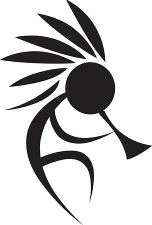 A kokopelli design is great on a native American project. Ilustração