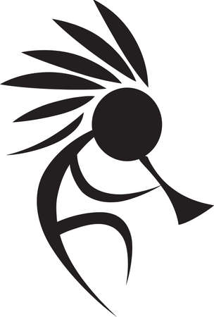 hopi: A kokopelli design is great on a native American project. Illustration
