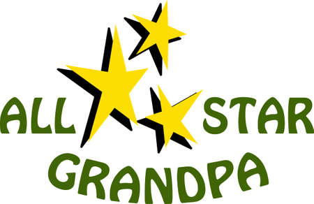 Grandpa will know how special he is when you make this design.