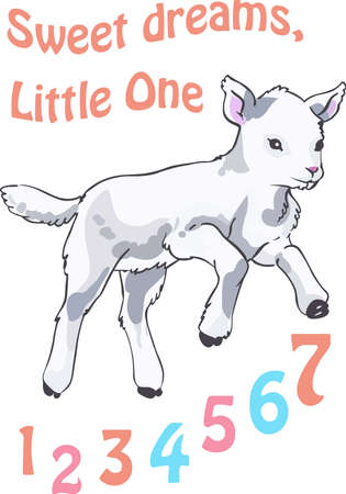 Een zoete lam is het ontwerp een prachtig kind.