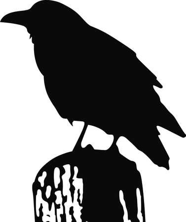 A raven silhouette will make a good Edgar Allan Poe design. Illusztráció