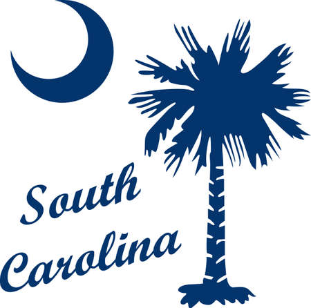 palmetto: Honor the state of South Carolina with its symbol. Illustration