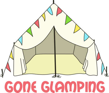 Show off your love for camping in style with this tent. Ilustração