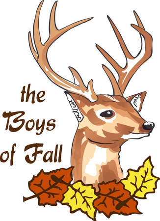 Welcome the fall season with a beautiful deer head. Illustration