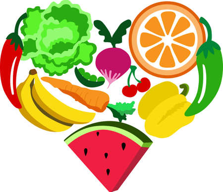 Remember to eat healthy with fruits and vegetables in your kitchen.