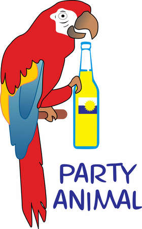 oclock: Why wait til five oclock for a drink  Start the party now.  Everyone will love it! Illustration