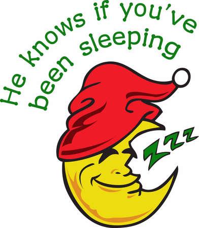 Babbo Natale sa se hai dormito! Design perfetto per i bambini pigiama. Archivio Fotografico - 45450238