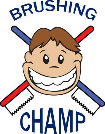 Teeth don' brush themselves.  Perfect to add to towels in the kid's bathroom for a reminder.
