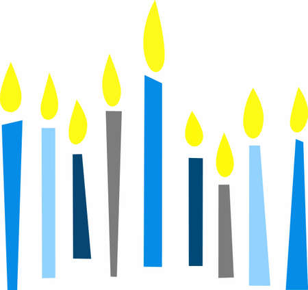 candlestick: This is a beautiful image for Happy Hanukkah. Use this design to give as a gift. Illustration