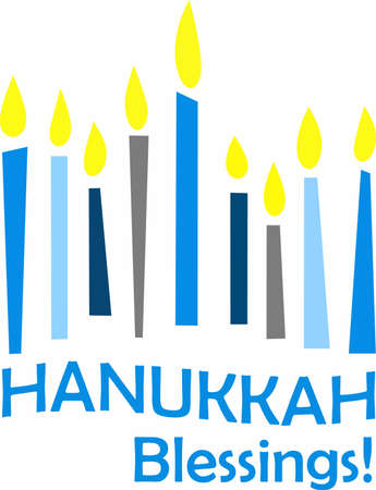 dedication: This is a beautiful image for Happy Hanukkah. Use this design to give as a gift. Illustration