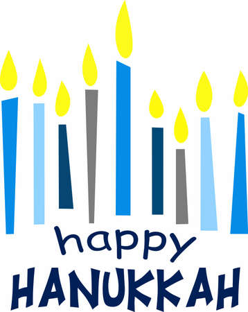 chanukah: This is a beautiful image for Happy Hanukkah. Use this design to give as a gift. Illustration