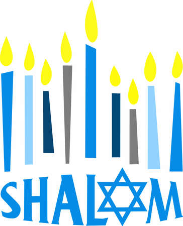 This is a beautiful image for Happy Hanukkah. Use this design to give as a gift. Ilustracja