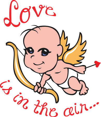 valentine cherub: Love is in the air with this cute cupid.  A perfect design for Valentines Day from Great Notions.