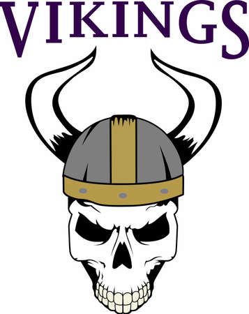 Show your team spirit with this viking logo.  Everyone will love it!