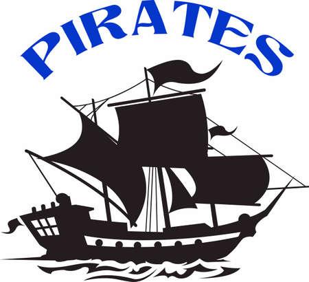 Zeigen Sie Ihren Teamgeist mit diesem Piraten-Logo. Jeder wird es lieben! Standard-Bild - 45450762