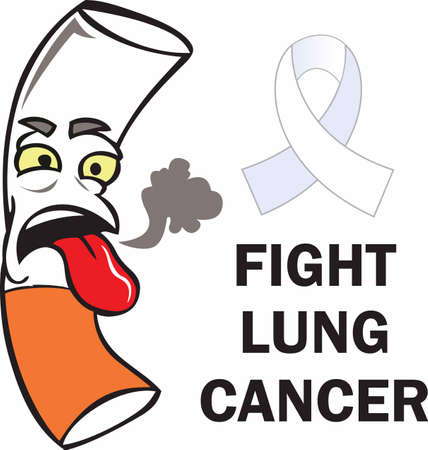 Help fight the fight of lung cancer with this design from Great Notions. Ilustração