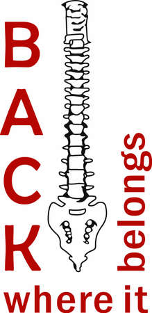 backbone: This image is a perfect gift to your chiropractor to support the services they provide.