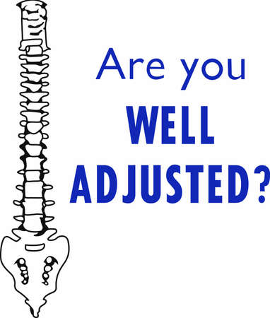 This image is a perfect gift to your chiropractor to support the services they provide. Reklamní fotografie - 45450878