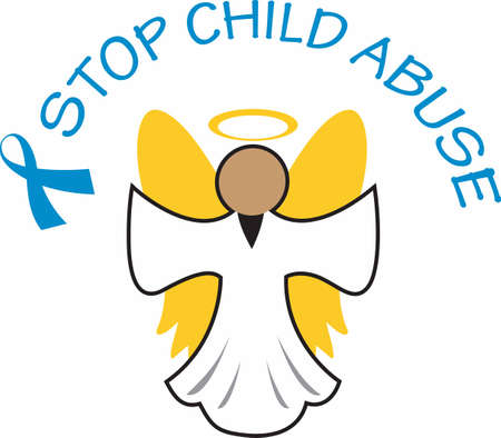 maltrato infantil: This beautiful angel is a perfect reminder there are angels among us. Vectores