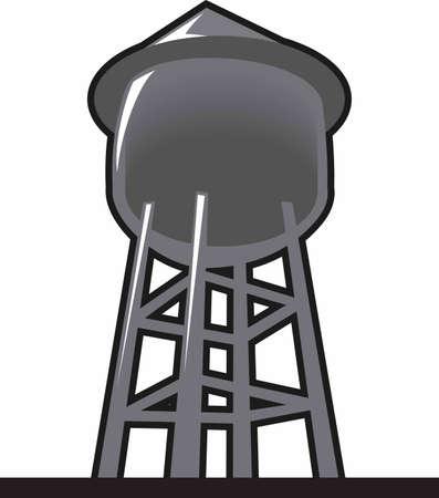 水タワーはシャツまたは市水道局の帽子に追加する完璧なデザインです。