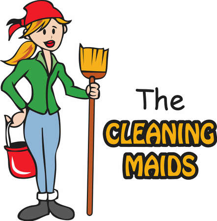 The perfect design for your maid cleaning service company!