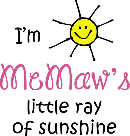im: Im MeMaws little ray of sunshine.  A cute design from Great Notions.