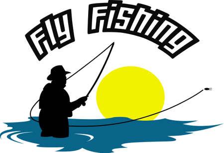 Fishermen will like this great fishing scene.