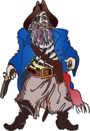swashbuckler: A pirate can show how you protect your own ship. Illustration