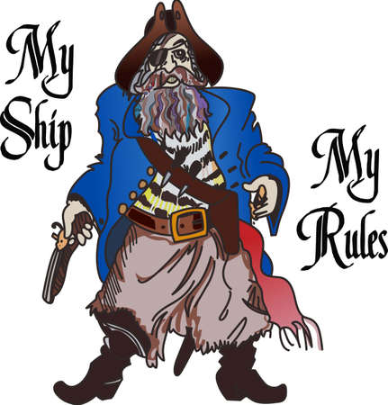 A pirate can show how you protect your own ship. Illustration