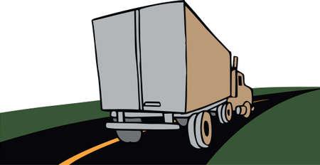 hauler: Boys of all ages love big trucks. Illustration