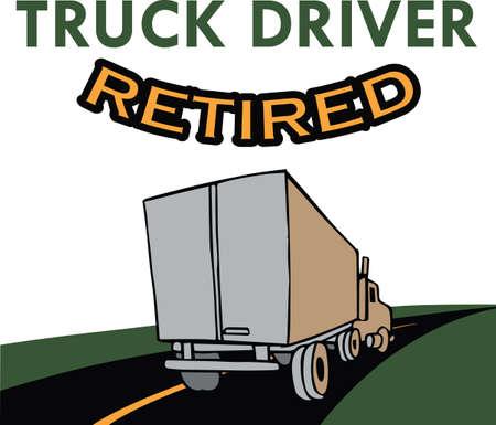 Boys of all ages love big trucks. Иллюстрация