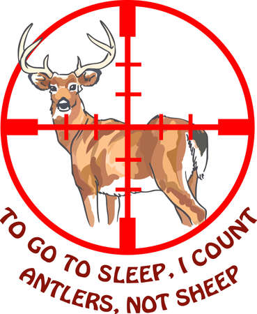 hunters: Hunters will love to have this deer in their sights. Illustration