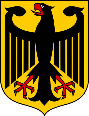 eagle coat of arms: Use this coat of arms to display pride in the country.