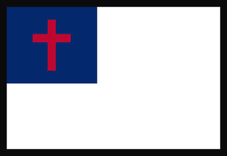 conviction: Display religious conviction with a Christian flag. Illustration