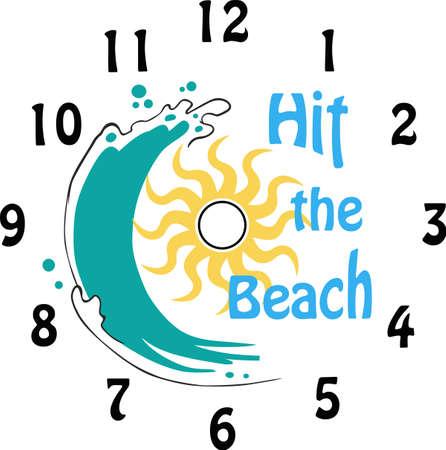 This design will make a wonderful clock.