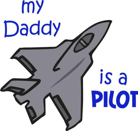 すべての年齢の男の子には、ジェット戦闘機が大好きです。  イラスト・ベクター素材