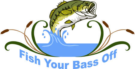 bulrush: Any fisherman would love to catch this beautiful bass.