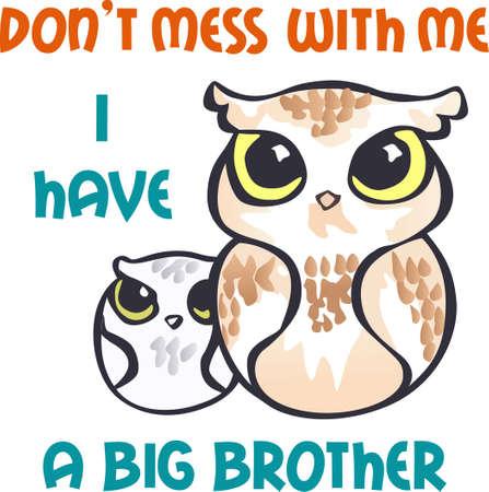 hoot: Kids will like these cute little owls on a shirt.