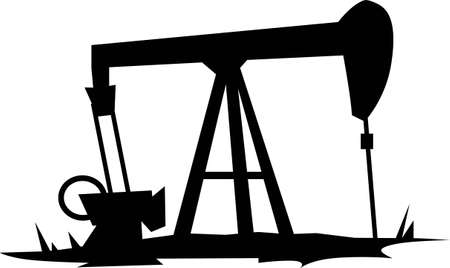oil well: An oil rig will make a great construction project. Illustration