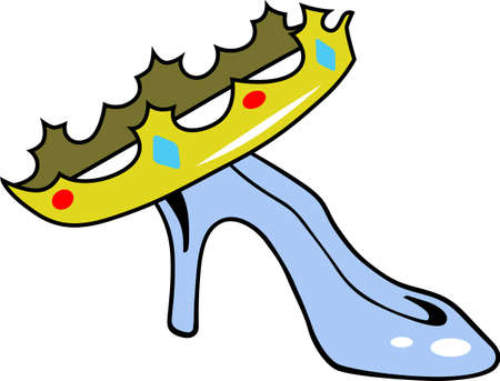 slipper: Make a girl feel like a princess with a crown and glass slipper.