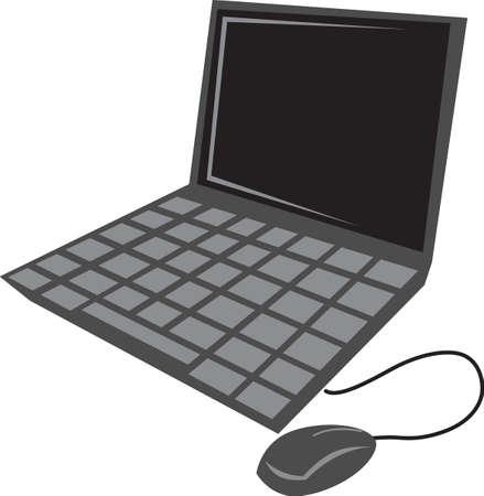 ノート パソコンは、office プロジェクトの偉大されます。  イラスト・ベクター素材